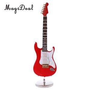 Image 3 - MagiDeal 1/6 Scale Wood Electric Guitar Model for 12 Inch Action Figure Accessory Kids Toys