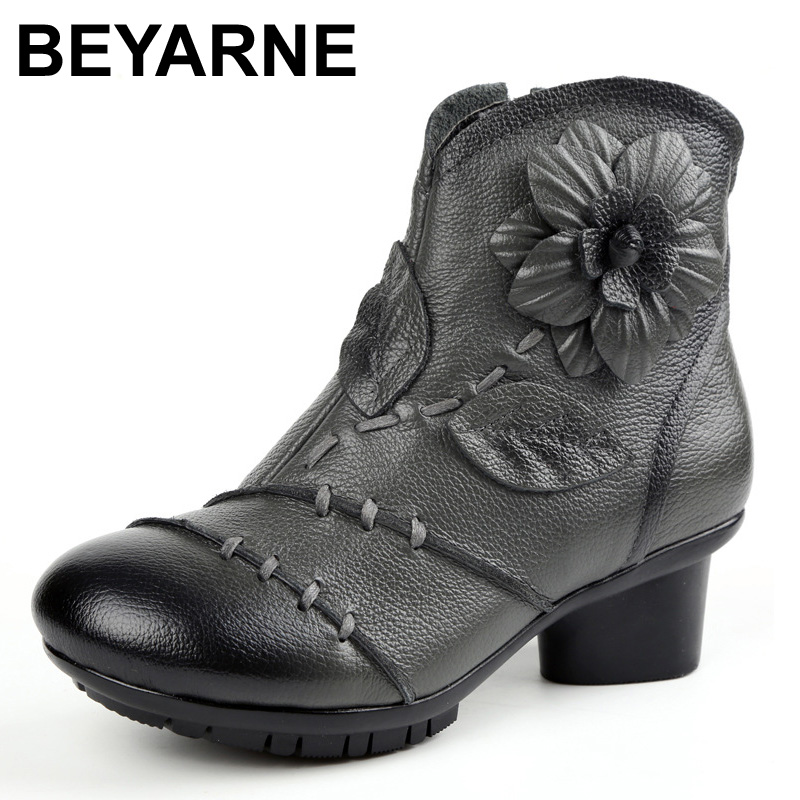 2017 High Quality Mujer Chaussure Women Genuine Leather Boots Casual Ladies Mar Shoes Summer Flat Boots