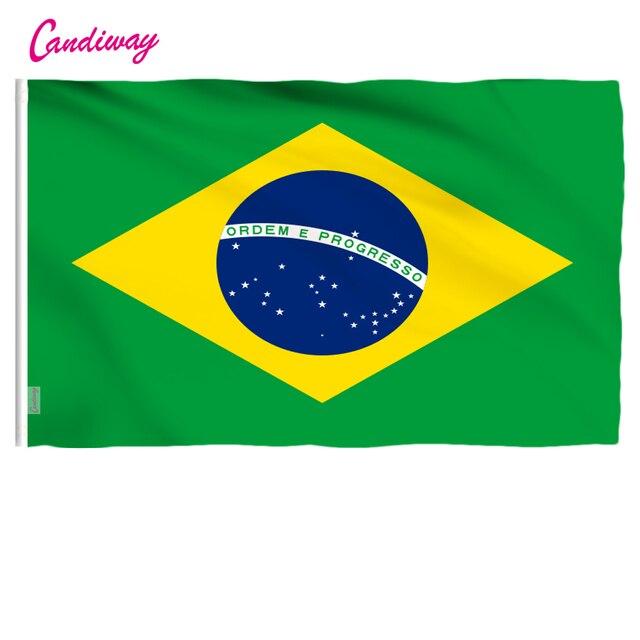 3ftx5ft Флаг Бразилии 150x90 см флаг, знамя на заказ национальные флаги супер-поли Крытый/Открытый бразильский флаг баннер со страной