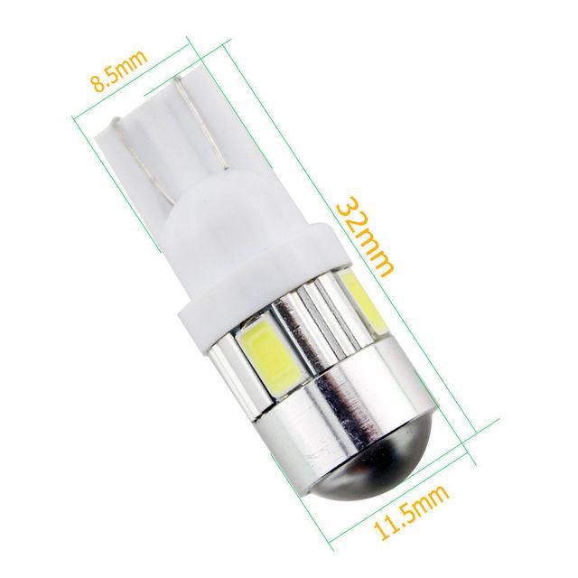 4 colors T10 LED 5730 SMD 6 LED W5W