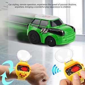 Image 3 - Mini reloj de detección de gravedad coche de carreras de Control remoto 2,4G RC recargable coches de dibujos animados de juguete regalos para niños