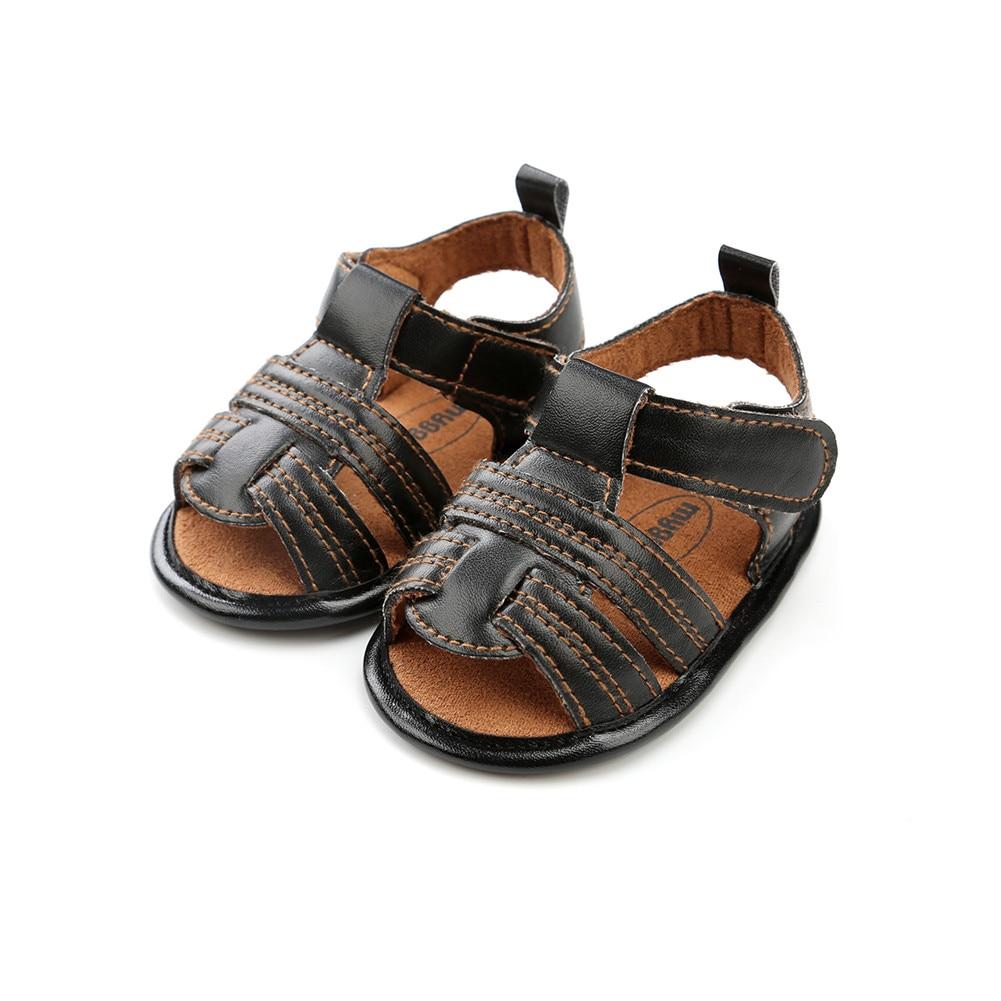 Toddler Kids Boys Cowboy Sandals Shoes Kids Anti-slip Soft Crib Sole Sneakers