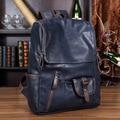2016 Men Backpacks Pu School Bag For Teenagers Black Backpack Waterproof Leather Bags Restore Ancient Ways Travel Backpack