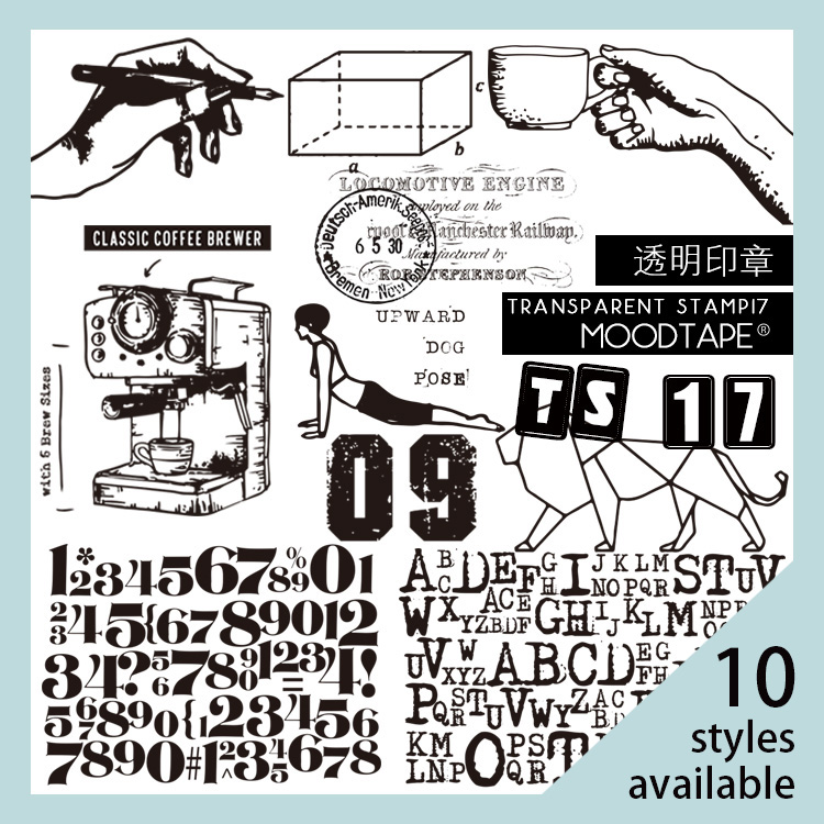 Moodtape Vintage Clear Stamp For DIY Scrapbooking/photo Album Decorative Transparent Stamp Label Coffee Yoga Rubber Stamp Seal