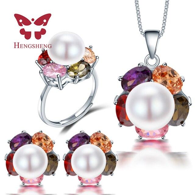 2e92ece2f HENGSHENG Top Big Pearl 10-11mm Women Jewelry Sets, Cultured Freshwater Pearl  Jewelry, Pendants&Earrings&Rings For Women