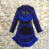 Fashion Short Dress 2017 Summer Women Sleeveless Hot Sale Brand Black White Patchwork Incity Runway Mini