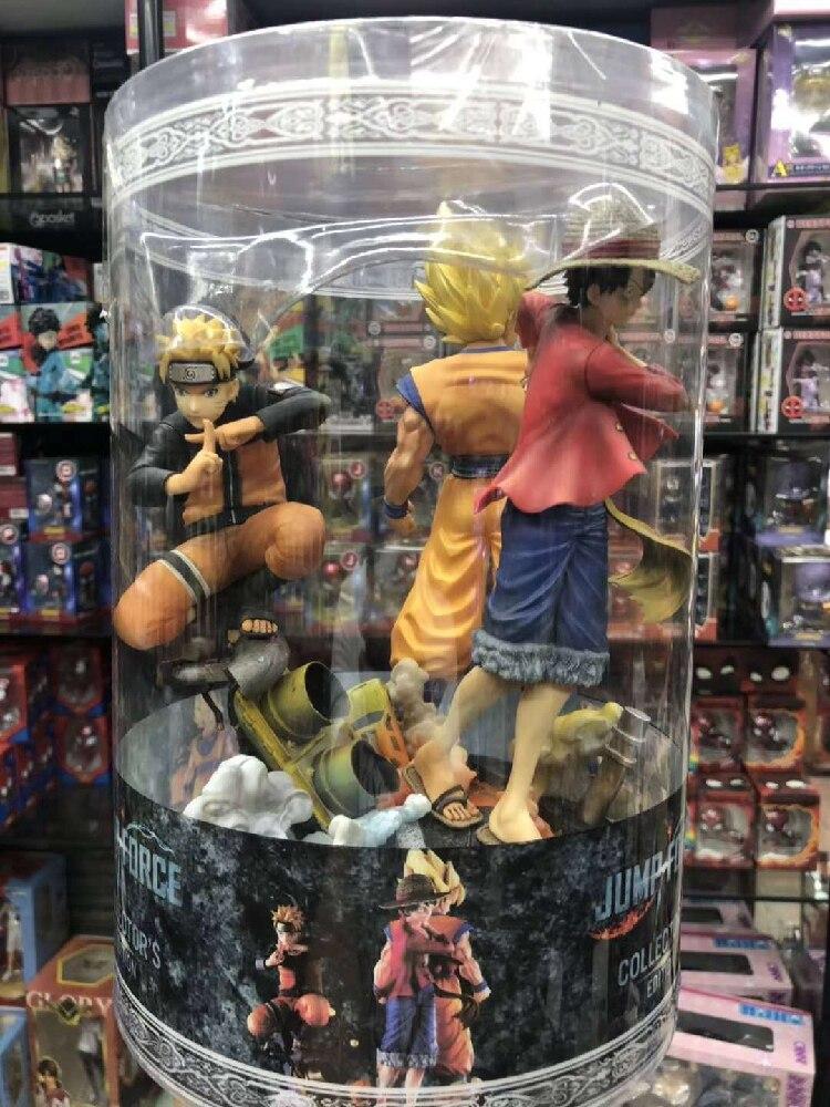 Dragon Ball Super Saiyan Son Goku une pièce singe D Luffy Uzumaki Naruto saut FORCE Statue 18 CM Figure modèle jouets recueillir