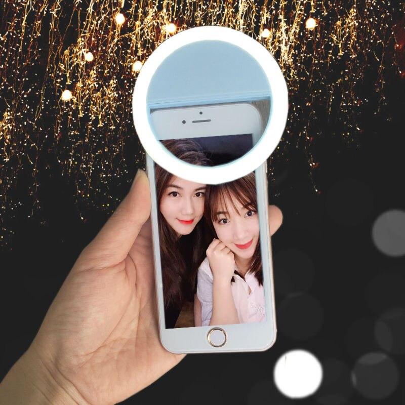 Селфи кольцо Зеркало Макияж чехол для LG G5 iphone 8 7 SE 6 6splus Samsung S8 S7 S6 LED свет вспышки до Android крышки мобильного телефона ...