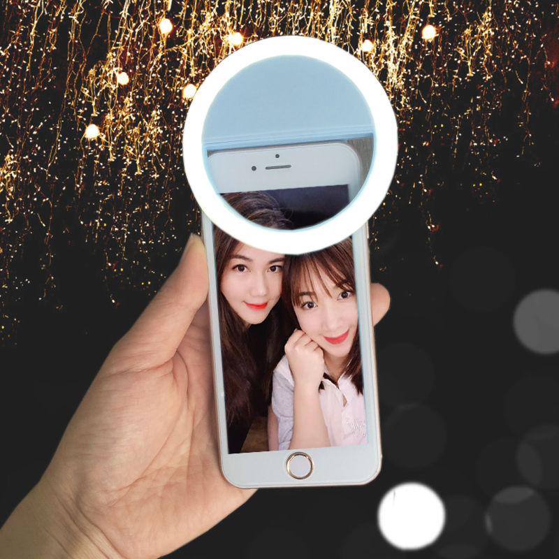 Selfie Ring Mirror Makeup Case For LG G5 iPhone 8 7 SE 6 6SPlus Samsung S8 S7 S6 LED Light Flash UP Android Mobile Phone Cover