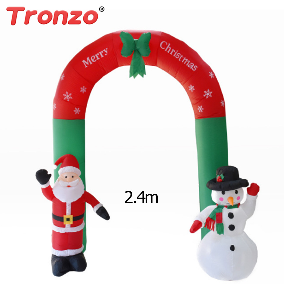 Tronzo Christmas Decoration 2.4m Inflatable Christmas Arch Santa Claus Snowman For House Decoration Garden Party I Toy christmas santa house face number watch page 5