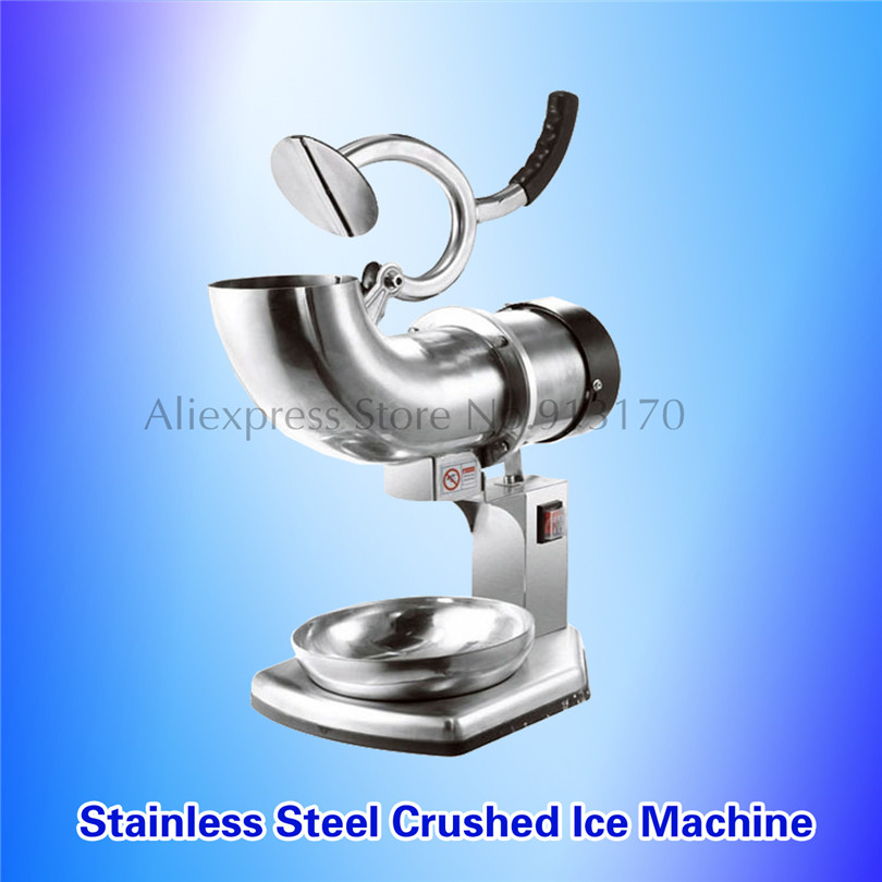 все цены на Commercial Ice Crusher Snow Ice Crushing Machine Electric Stainless Steel Ice Chopper 0.4KW онлайн