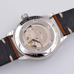 Image 4 - 42mm Corgeut sterylna tarcza do zegarka szafirowe szkło wojskowe mężczyźni automatyczny luksusowy wzór sportowy marki automatyczny mechaniczny męski zegarek