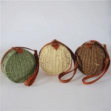 Новинка 2020 круглые соломенные сумки женская летняя сумка из