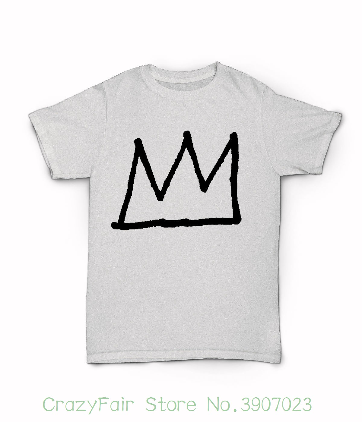Jean Michel Basquiat Crown T Shirt - New York City 80s Art T-shirt - Legend New Men Summer Tops Casuals Shirts