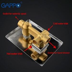 Image 4 - GAPPO Grifo de ducha de baño de pared de latón, grifo mezclador de ducha de lluvia, grifo de bañera cromado, ducha de baño de cascada