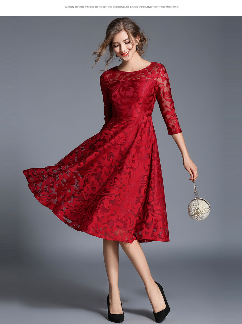 Borisovich New 18 Spring Fashion England Style Luxury Elegant Slim Ladies Party Dress Women Casual Lace Dresses Vestidos M107 8
