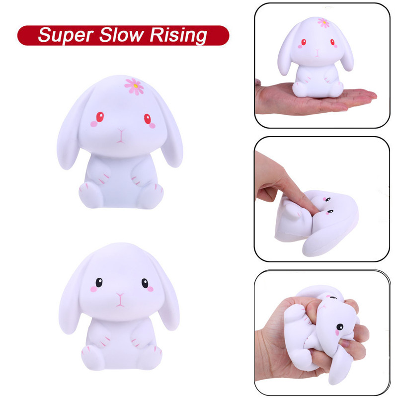 Squishies Adorable Rabbit Slow Rising Cream Squeeze Scented Stress Relief Toys Antistress Visqueux Squishi Toys For Children A1