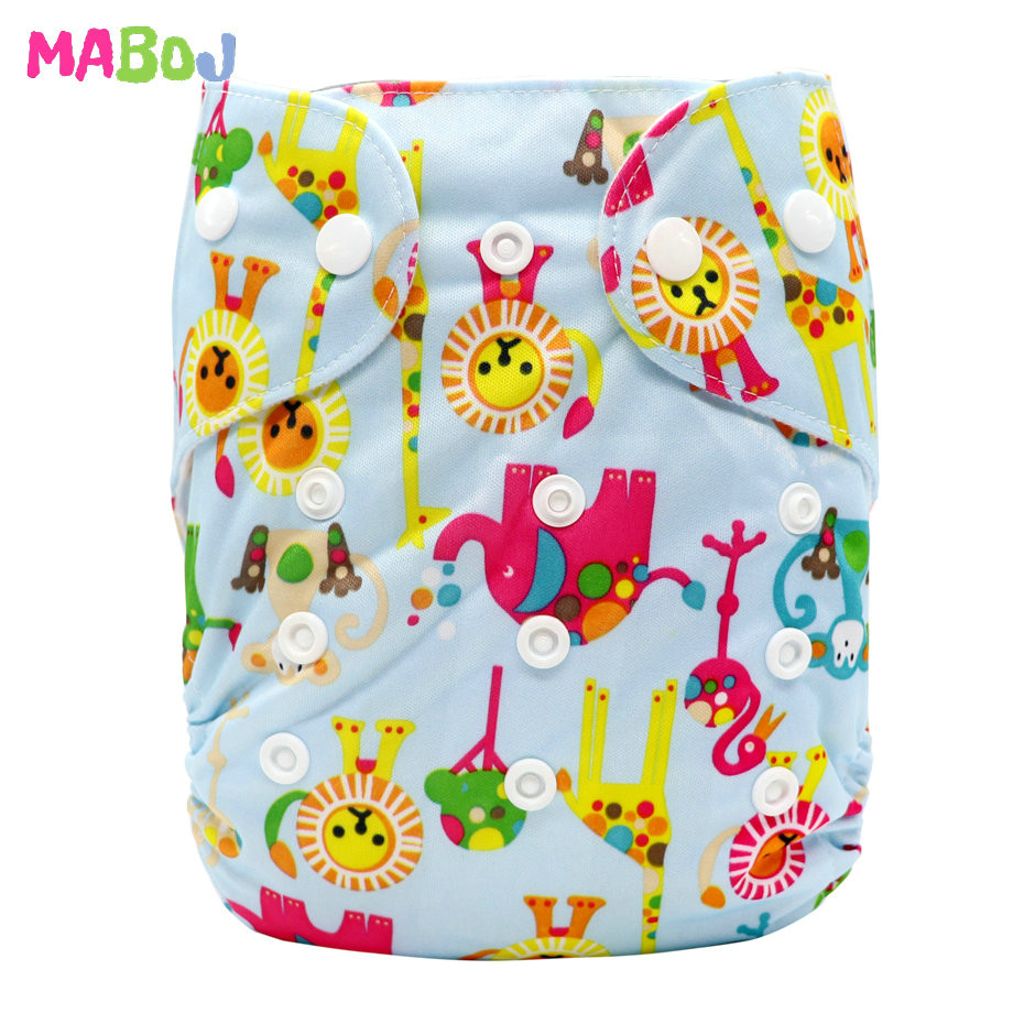 MABOJ Diaper Baby Pocket Diaper Washable Cloth Diapers Reusable Nappies Cover Newborn Waterproof Girl Boy Bebe Nappy Wholesale - Цвет: PD5-5-14