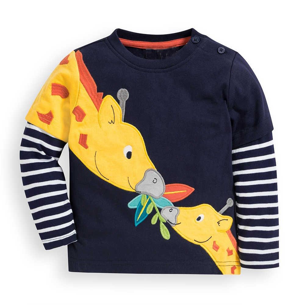 Camisetas para niños de Kidsalon, ropa para niños, camisetas para bebés, otoño 2019, nuevas camisetas para niños, camisetas para niños de algodón con apliques de animales