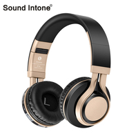 Sound Intone Headsets Stereo Wireless Bluetooth 4 0 With Mic Micro SD TF FM Radio Bass