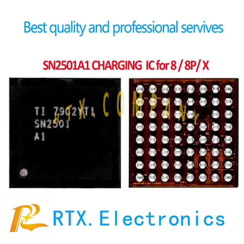 SN2501A1 For IPhone 8 8Plus X 10 8P U3300 Tigris Charging IC 63pin USB Charger Control Power Supply IC Chip SN2501 Original New