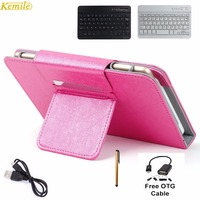 Kemile 7 9inch Portable Leather Case Cover Stand Wireless Bluetooth Keyboard For Lenovo Yoga Tablet 3