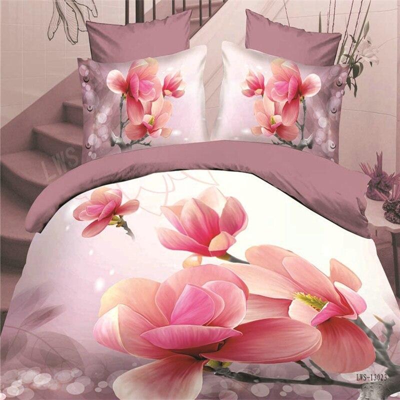 reactive 3d flower cot bedding set duvet/doona cover bed sheet pillow cases 4pcs queen size bedclothes/aqua