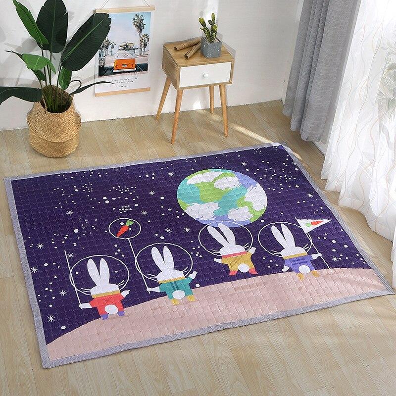 Animaux cerf éléphant renard ours girafe anti-dérapant bébé tapis de jeu couverture enfants tapis Style nordique chambre décor à la maison accessoires Photo - 5