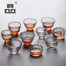 TANGPIN heat-resistant transparents glass teacup for tea cup kung fu drinkware