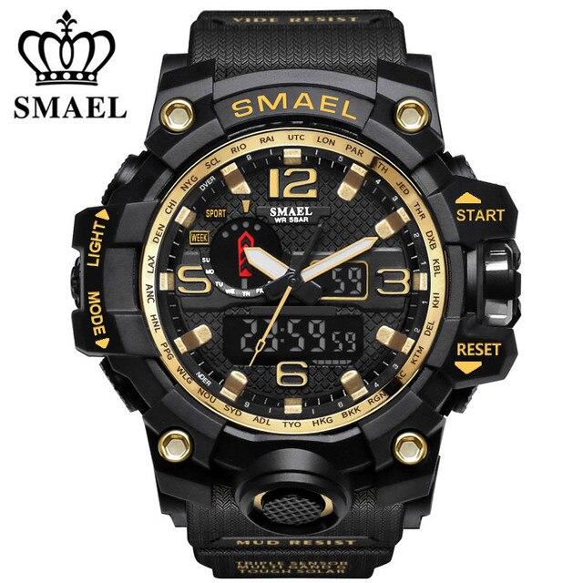 ce0734b14705 Smael hombre wathes Top marca de lujo de moda hombres reloj digital LED  cuarzo deporte ocasional