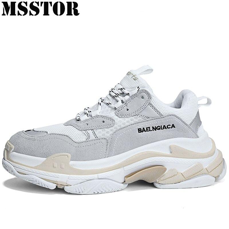 MSSTOR 2018 Femmes Hommes Sneakers Respirant Femmes Sport Chaussures Femme Marque En Plein Air de Marche Athlétique Hommes Courent Chaussures de Course Pour Homme