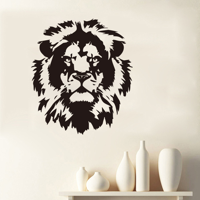 kids room wall sticker lion head removable decorative vinyl sticker