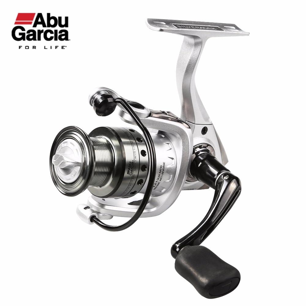 ABU GARCIA Brand SILVER MAX SPINNING Reel 5.2:1/5.1:1  5 + 1 Ball Bearings 500 ,1000 ,2000,3000,4000  Series Fishing Reel tokushima hf series all metal double bearing 5 1 bearings spinning reel 4 5 1