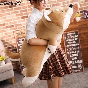 1 шт., мультяшная Лежащая плюшевая мягкая собака, большие игрушки, собака Шиба ину, кукла, милые животные, подарок на день рождения, поюшевый к...