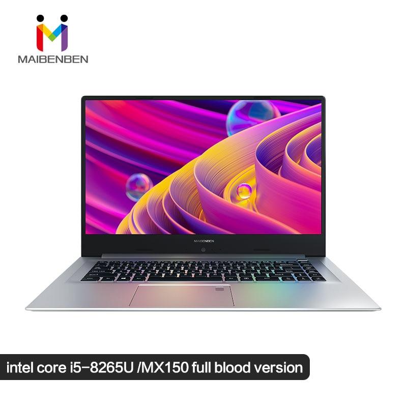 "Ultra-slim Office Laptop MaiBenBen XiaoMai 6S-2 15.6"" Intel Core I5-8265U/MX150 Graphics Card/DOS/Silver Keyboard Game Notebook"