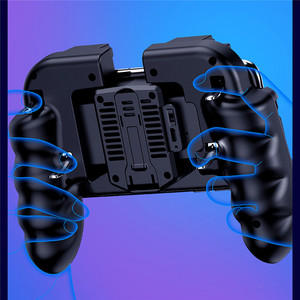Image 2 - PUBG Mobile Controller Gamepad With Cooler Cooling Fan For iOS Android Smartphone 6 Fingers Operation Joystick Cooler Battery