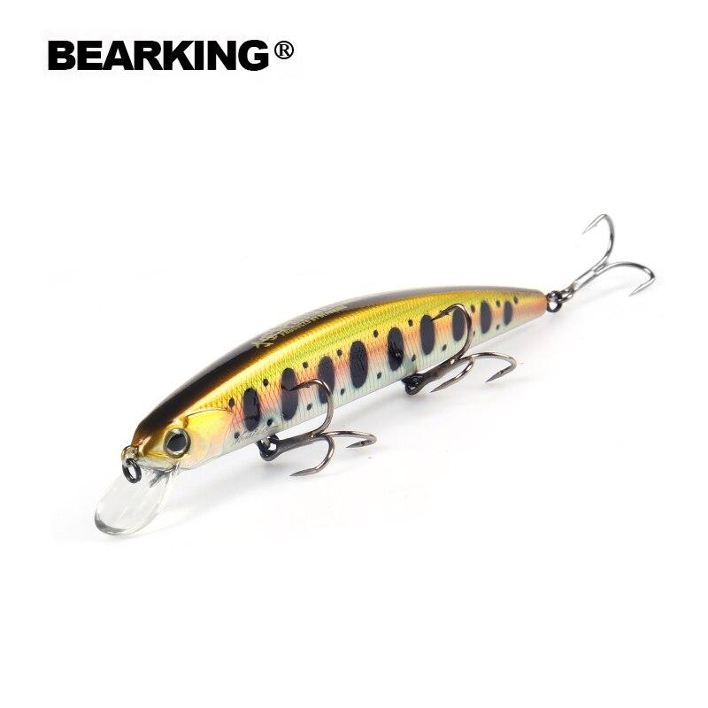 Señuelo de pesca Bearking Bk17-D130 1 unidad Unid 21g 1,8mm Profundidad 130 m cebo Artificial Wobbler Minnow señuelo de Pesca 3 anzuelos BKK aparejos de pesca