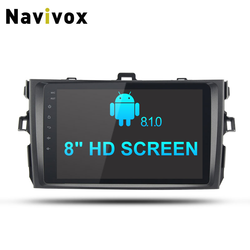 Navivox 8 2din Android 8.1.0 Stereo Video Player Rom 2G 8 Core GPS Navigation For Corolla 2007-2011 Wifi/BT/3G/4G/