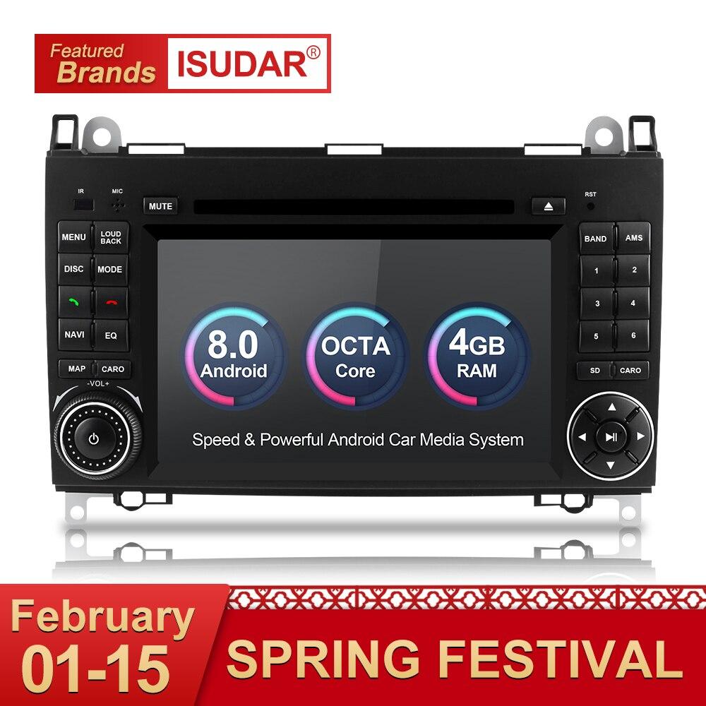 Isudar Auto Multimedia Player 2 din Auto Radio GPS Android 8.0 Per Mercedes/Benz/Viano/B200/ b150/B170/B-classe OBD2 Microfono DSP