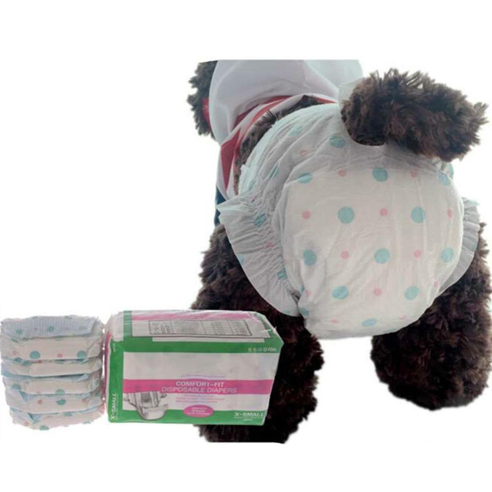 10Pcs Disposable Dog Sanitary Nappies