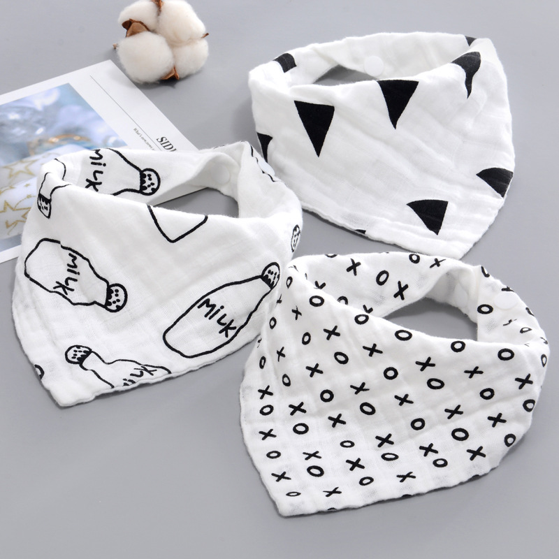 AZEOSHE Baby Bibs Boy Girl Bandana Water Absorb Cotton