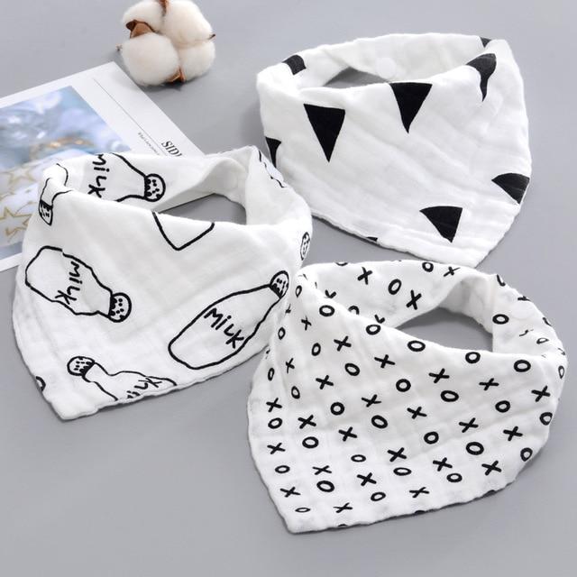 AZEOSHE bebé Baberos Niño niña Bandana agua absorber babero Burp paño triángulo algodón bebé bufanda Burp bebé accesorios de Navidad
