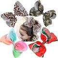 8 pulgadas grandes mujeres lazos de pelo Arco Iris estampado grosgrain cinta horquillas niños niñas accesorios para el cabello pinzas de cocodrilo