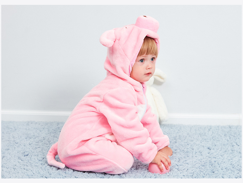 HTB16.duR3HqK1RjSZFEq6AGMXXaD Baby rompers new born baby girls clothes Hooded pajamas mameluco bebe warm winter animal costumes roupas de bebe dropshipping