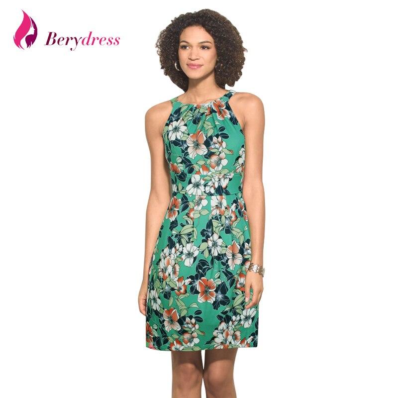 Berydress Elegant Womens Summer Dress Sexy Halter Neck