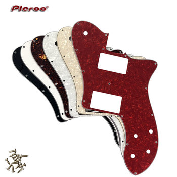 Pleroo Custom Guitar Parts - For US Fd 72 Tele Deluxe Reissue Guitar Pickguard Replacement , Multicolor choice 5pcs electric guitar pickguard for yamaha pacifica 112v replacement 3ply white pearl