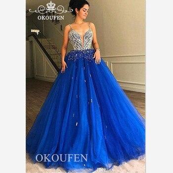 7a41a6fe4 En Stock Vestidos dulce 16 largos azul marino Vestidos De quinceañera De LA  cordón para Quinceañera 15 años