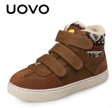 UOVO Children Winter Shoes kids Warm Faux Fur walking shoes Boys Girls snow shoes Mid-Cut Footwear for Kids winter sneakers joyyou brand kids shoes boys girls school sneakers children teenage footwear baby slip on canvas toddler for child fashion shoes