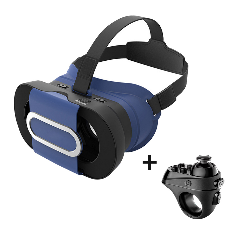 VR Virtual Reality Glasses 3D VR box Mini Portable folded Google Cardboard Headset for Smartphone 4.7-6.0  VR Controllers