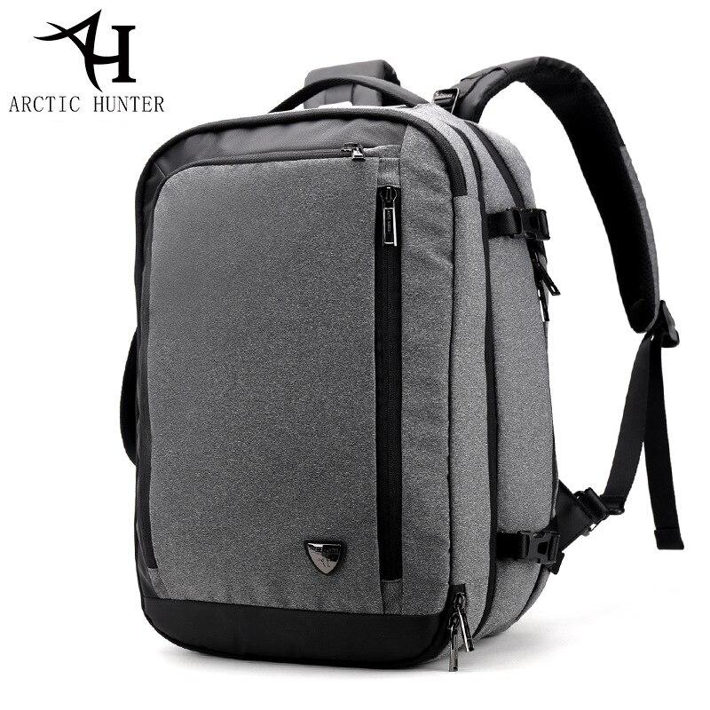 Большой емкости 17 дюймов рюкзак для ноутбука Многофункциональный водонепроницаемый мужской бизнес путешествия Back Pack черный мужской качественный компьютер сумки - 6